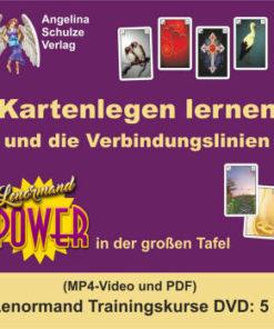Kartenlegen lernen und die Verbindungslinien - Lenormand Trainingskurs 5