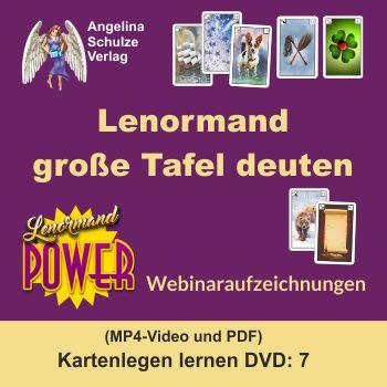 Lenormand grosse Tafel deuten - Kartenlegen lernen 7