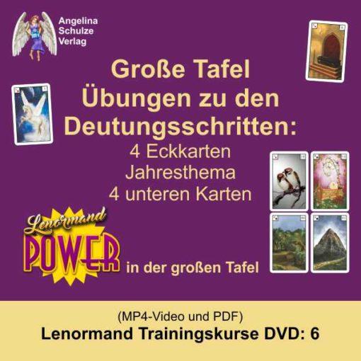 Kartenlegen lernen Deutungsschritte grosse Tafel - Lenormand Trainingskurs 6