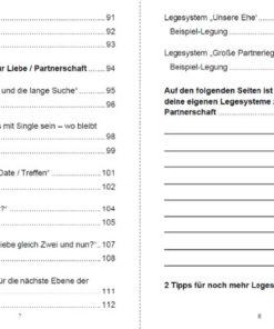 Tarot Liebe - Inhaltsverzeichnis