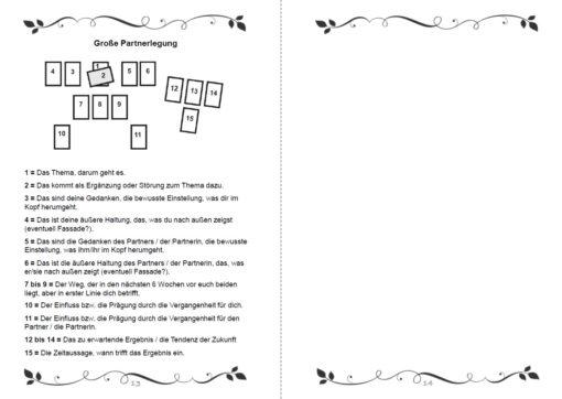 Legesysteme Tarot für deine Lebensberatung Notizbuch - Innenansicht Seite 13 und 14