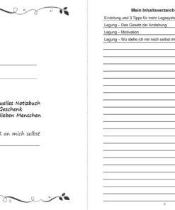 Lenormand Legesysteme für deine Lebensberatung Notizbuch - Innenansicht Seite 3 und 4