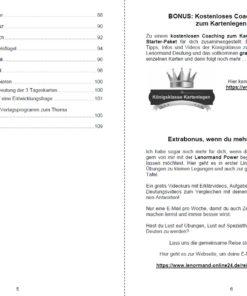 Lenormandkarten Funken - Innenansicht Seite 5 und 6