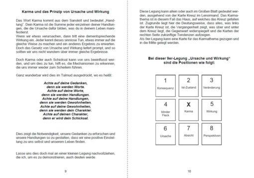 Kartenlegen lernen Karma deuten mit Lenormandkarten - Seite 9 und 10-min