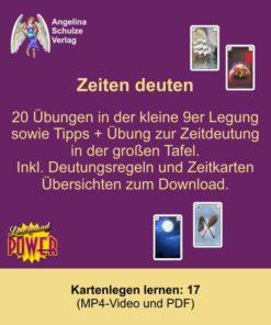 Kartenlegen lernen 17 - Zeiten deuten