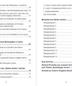 Lenormand Zeiten deuten - Inhaltsverzeichnis Seite 5 und 6