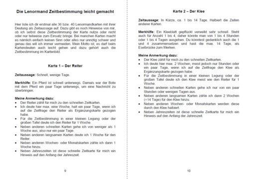 Lenormand Zeiten deuten - Seite 9 und 10