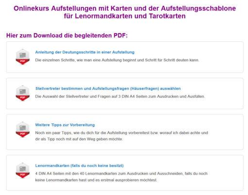 Onlinekurs Aufstellungen mit Karten - PDF zum Download