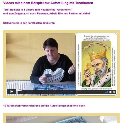Onlinekurs Aufstellungen mit Karten - Video mit Tarotkarten