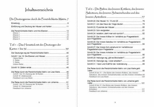 Buch - Lenormand grosse Tafel 9x4 Matrix Seite 3 und 4