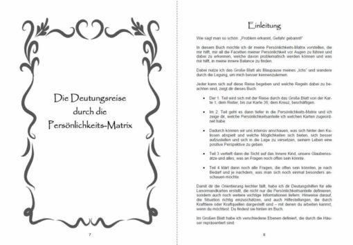 Buch - Lenormand grosse Tafel 9x4 Matrix Seite 7 und 8